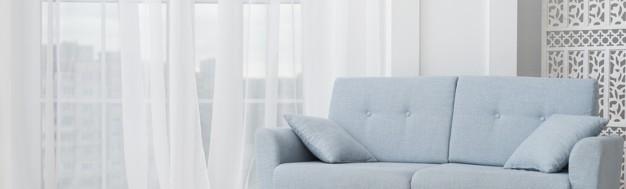 Γαλάζιος καναπές